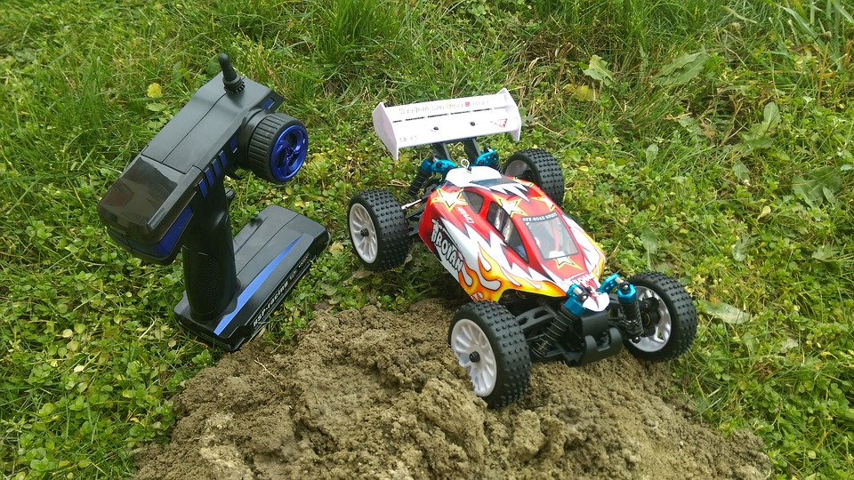 radio control car on grass